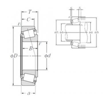 35 mm x 55 mm x 14 mm  NTN 32907XU tapered roller bearings