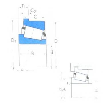 57,15 mm x 117,475 mm x 31,75 mm  Timken 66225/66462B tapered roller bearings