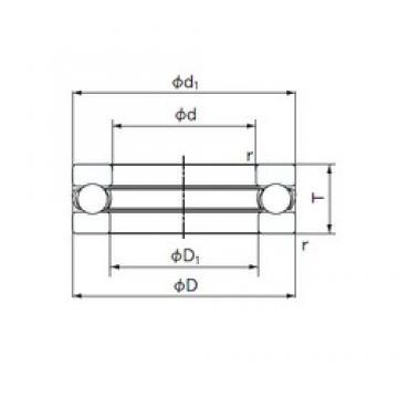 NACHI 2904,5 thrust ball bearings