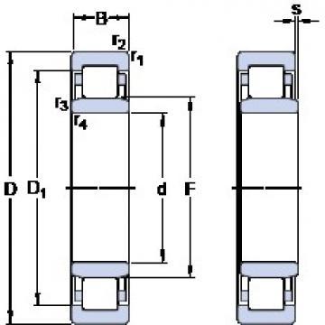 105 mm x 190 mm x 36 mm  SKF NU 221 ECP thrust ball bearings