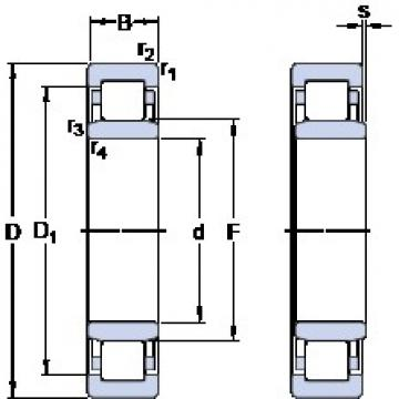 180 mm x 380 mm x 126 mm  SKF NU 2336 ECML thrust ball bearings