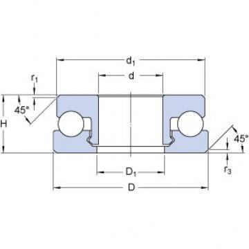 SKF 51207 V/HR22T2 thrust ball bearings