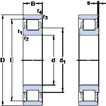 45 mm x 100 mm x 25 mm  SKF N 309 ECP thrust ball bearings