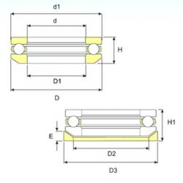 ISB 53320 U 320 thrust ball bearings