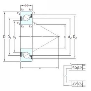 30 mm x 72 mm x 19 mm  SKF BSA 306 CG-2RZ thrust ball bearings