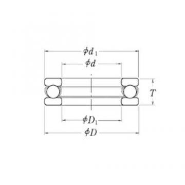 RHP LT3.3/4 thrust ball bearings