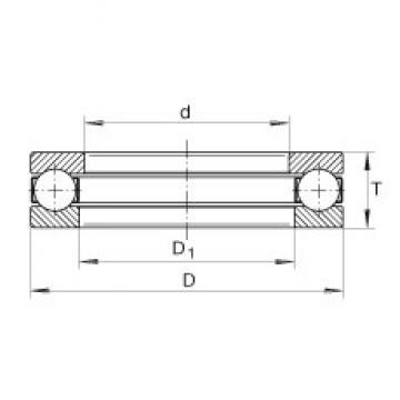 INA 2917 thrust ball bearings