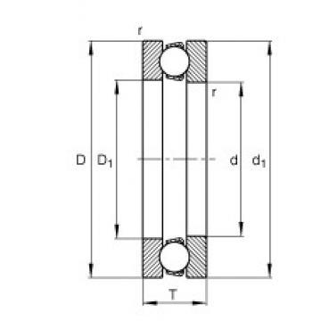 FAG 51110 thrust ball bearings