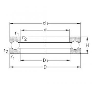 NKE 51110 thrust ball bearings