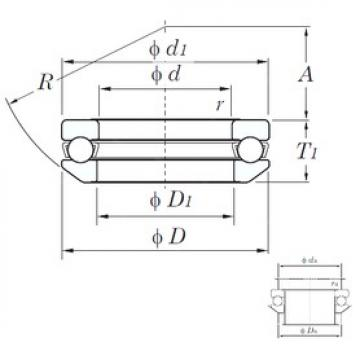 KOYO 53213 thrust ball bearings