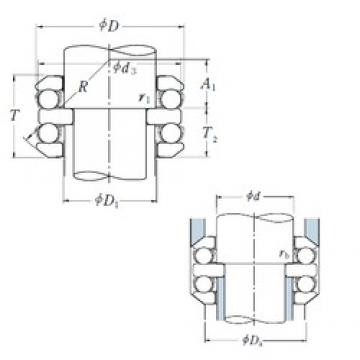 55 mm x 120 mm x 20 mm  NSK 54411 thrust ball bearings
