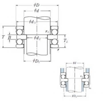 180 mm x 300 mm x 37 mm  NSK 52336X thrust ball bearings