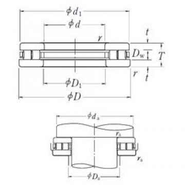 NSK 240TMP11 thrust roller bearings