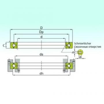 350 mm x 400 mm x 20 mm  ISB RB 35020 thrust roller bearings