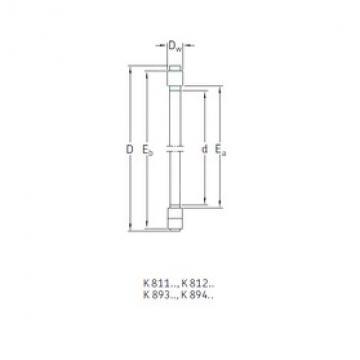SKF K81222TN thrust roller bearings