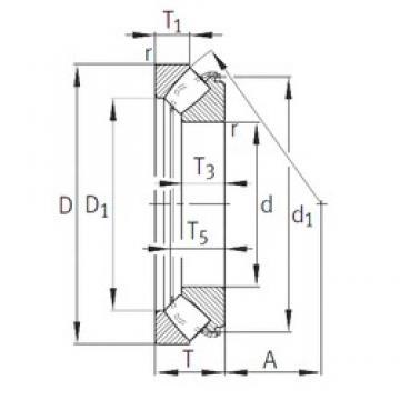 INA 29456-E1 thrust roller bearings