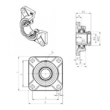 SNR EXF218 bearing units