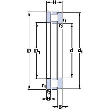 220 mm x 300 mm x 18.5 mm  SKF 81244 M thrust roller bearings