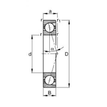 75 mm x 130 mm x 25 mm  FAG B7215-C-T-P4S angular contact ball bearings