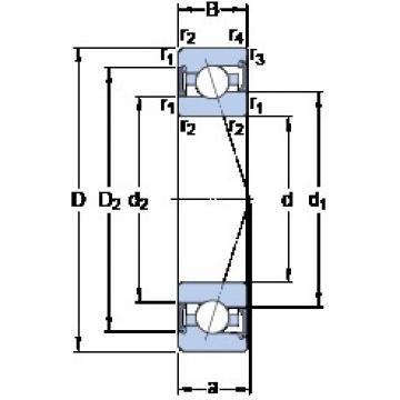 65 mm x 100 mm x 18 mm  SKF S7013 ACE/HCP4A angular contact ball bearings