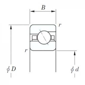 635 mm x 685,8 mm x 25,4 mm  KOYO KGA250 angular contact ball bearings