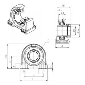 SNR EXPA208 bearing units