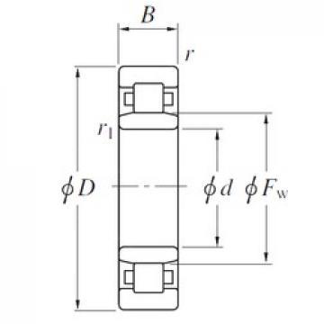 530 mm x 710 mm x 82 mm  KOYO NU19/530 cylindrical roller bearings