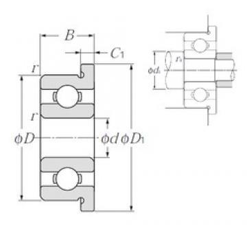 5 mm x 11 mm x 3 mm  NTN FL685 deep groove ball bearings