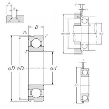 50 mm x 110 mm x 27 mm  NTN 6310NR deep groove ball bearings