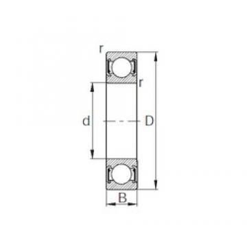 15 mm x 42 mm x 13 mm  KBC 6302UU deep groove ball bearings