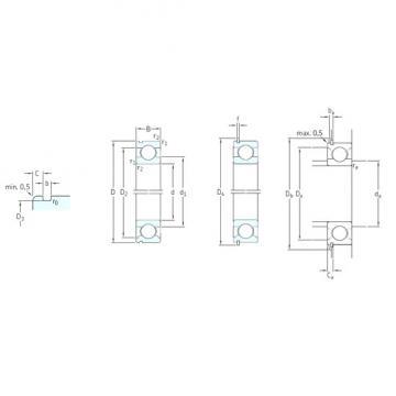 60 mm x 150 mm x 35 mm  SKF 6412N deep groove ball bearings