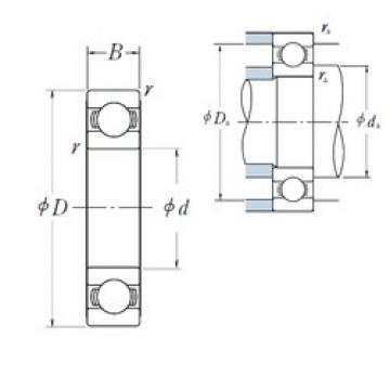 90 mm x 140 mm x 16 mm  NSK 16018 deep groove ball bearings