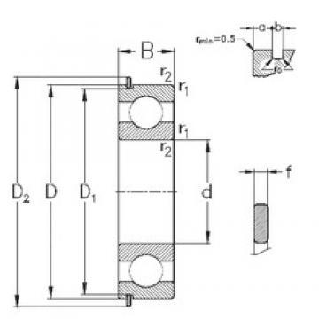 20 mm x 42 mm x 12 mm  NKE 6004-Z-N deep groove ball bearings