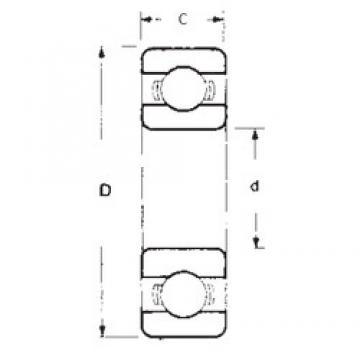 30 mm x 62 mm x 16 mm  FBJ 6206 deep groove ball bearings
