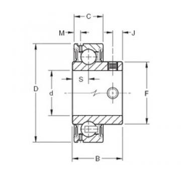 31.75 mm x 62 mm x 32,5 mm  Timken GYA103RR2 deep groove ball bearings