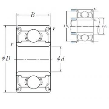 1,397 mm x 4,762 mm x 2,779 mm  ISO R1ZZ deep groove ball bearings