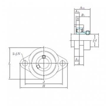KOYO ALF207-20 bearing units
