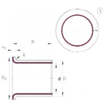 25 mm x 28 mm x 21,5 mm  INA EGF25215-E40 plain bearings