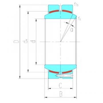 100 mm x 150 mm x 71 mm  LS GEH100HC plain bearings