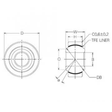8 mm x 22 mm x 8 mm  NMB SBT8 plain bearings