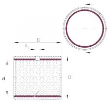 100 mm x 105 mm x 60 mm  INA EGB10060-E50 plain bearings