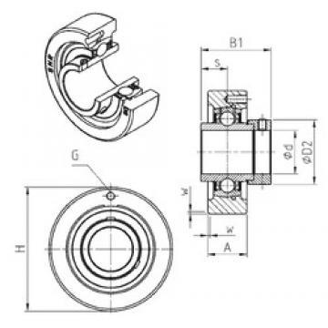 SNR EXC305 bearing units