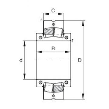 6 7/16 inch x 300 mm x 140 mm  FAG 231S.607 spherical roller bearings