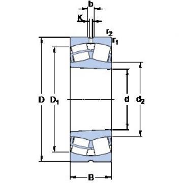 160 mm x 240 mm x 60 mm  SKF 23032 CCK/W33 spherical roller bearings