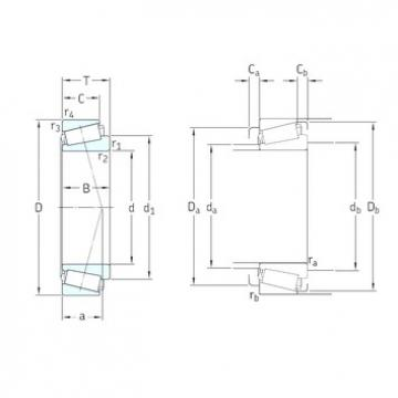 17 mm x 47 mm x 19 mm  SKF 32303J2/Q tapered roller bearings