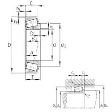 114,3 mm x 177,8 mm x 41,275 mm  FAG K64450-64700 tapered roller bearings
