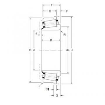 34,925 mm x 80 mm x 26 mm  Gamet 100034X/100080C tapered roller bearings