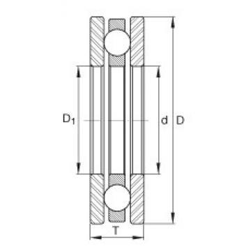 INA 4447 thrust ball bearings