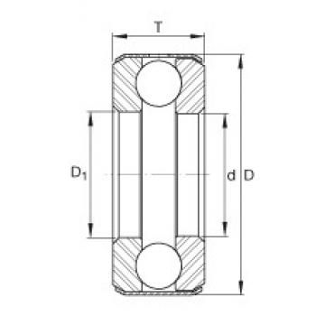 INA B26 thrust ball bearings