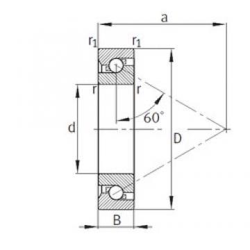 90 mm x 190 mm x 43 mm  FAG 7603090-TVP thrust ball bearings